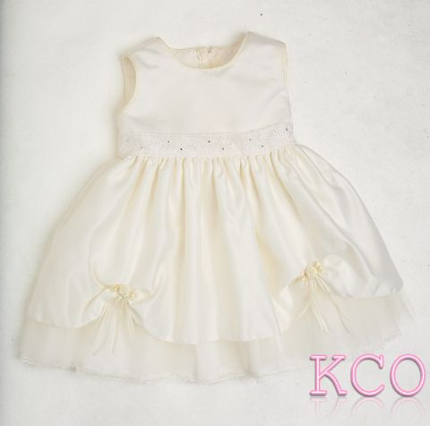 Lace Belt Dress Cream ~ girls dress